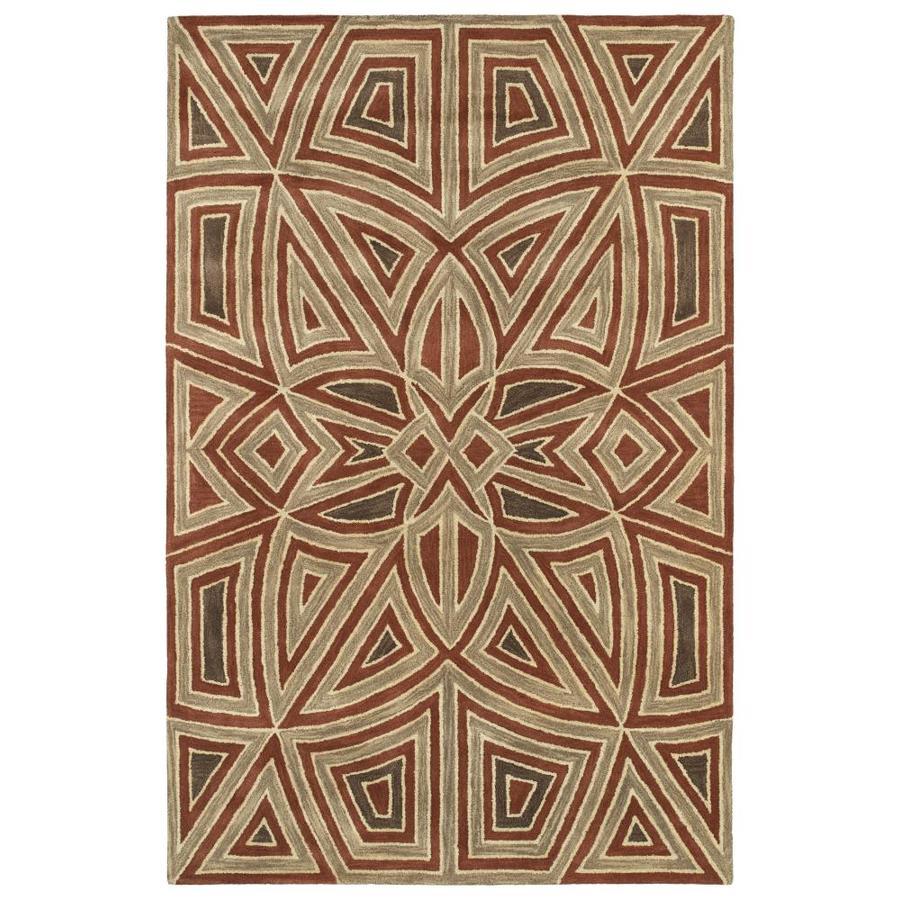 Kaleen Rosaic Rust Rectangular Indoor Handcrafted Area Rug (Common: 5 x 8; Actual: 5-ft W x 7.75-ft L)