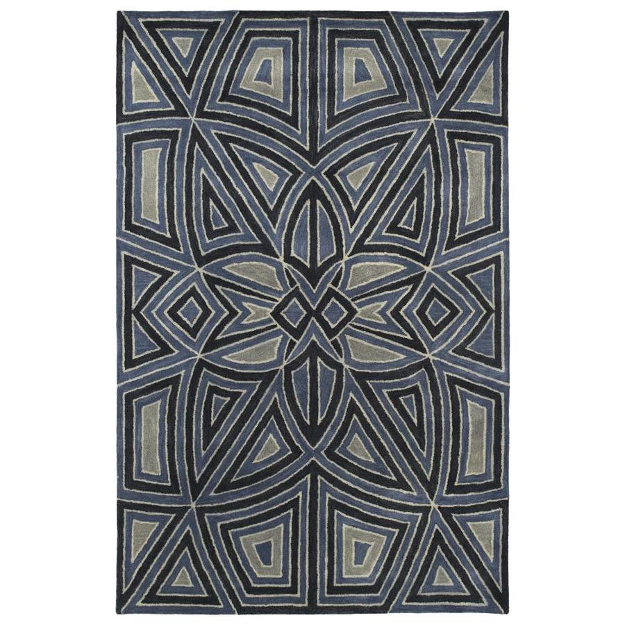 Kaleen Rosaic Periwinkle Indoor Handcrafted Area Rug (Common: 5 x 8; Actual: 5-ft W x 7.75-ft L)