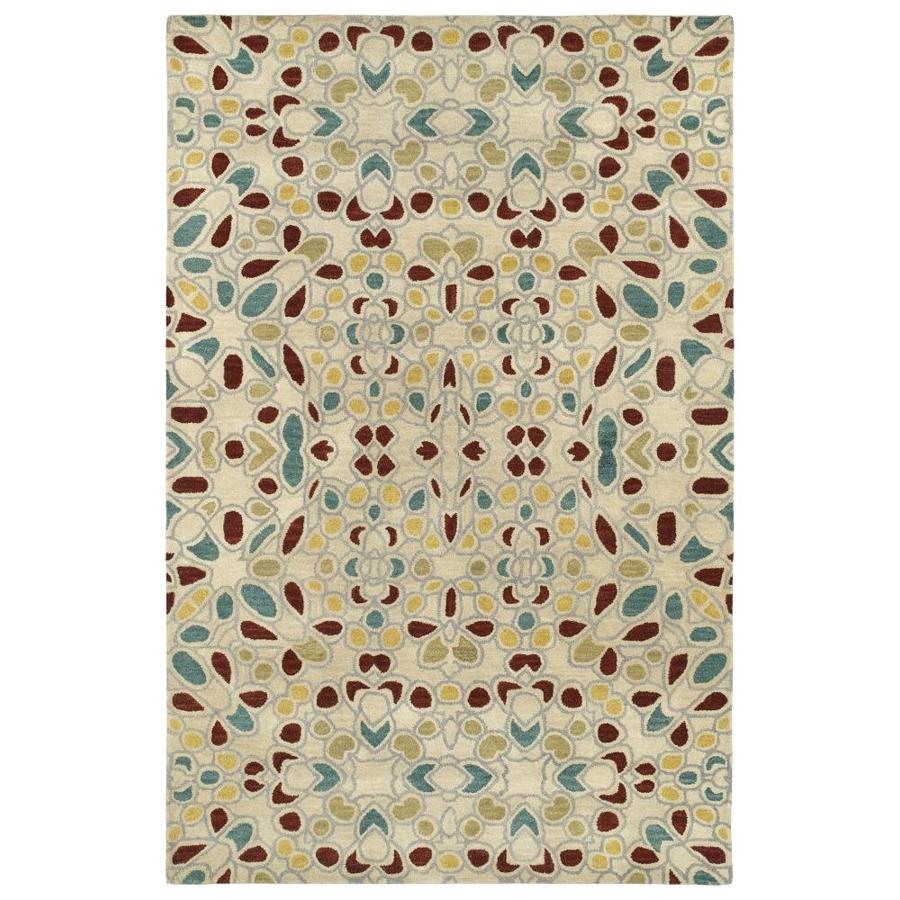 Kaleen Rosaic Beige Rectangular Indoor Handcrafted Area Rug (Common: 5 x 8; Actual: 5-ft W x 7.75-ft L)