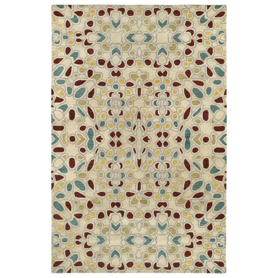 Kaleen Rosaic Beige Rectangular Indoor Handcrafted Area Rug (Common: 8 x 11; Actual: 8-ft W x 11-ft L)