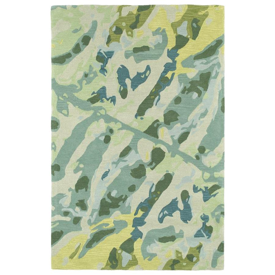 Kaleen Pastiche Turquoise 3-ft x 5-ft Throw Rug