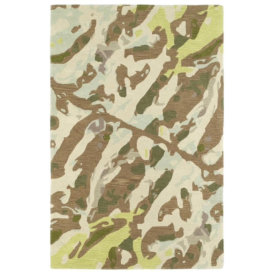 Kaleen Pastiche Lt. Brown Indoor Handcrafted Inspirational Area Rug (Common: 5 x 8; Actual: 5-ft W x 7.75-ft L)