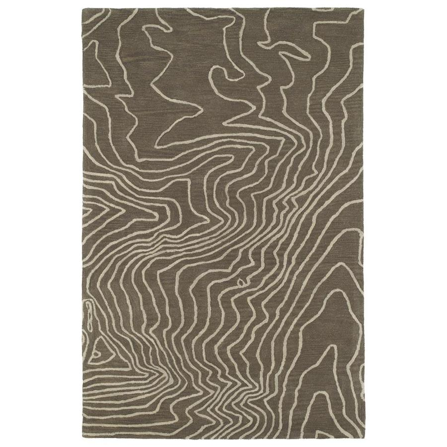 Kaleen Pastiche Taupe Rectangular Indoor Handcrafted Inspirational Throw Rug (Common: 3 x 5; Actual: 3-ft W x 5-ft L)