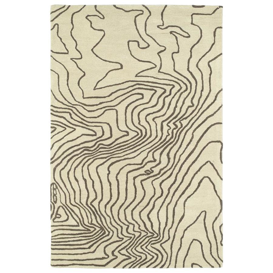 Kaleen Pastiche Brown Rectangular Indoor Handcrafted Inspirational Area Rug (Common: 8 x 10; Actual: 8-ft W x 10-ft L)