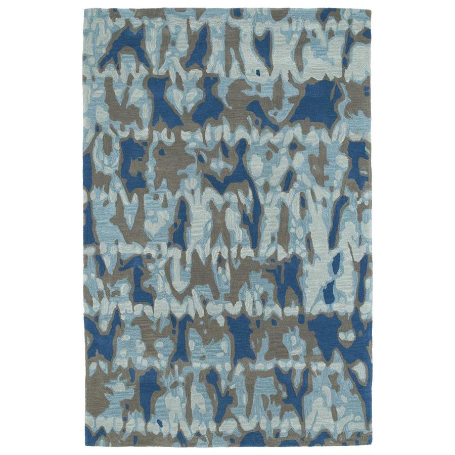 Kaleen Pastiche Blue Rectangular Indoor Handcrafted Inspirational Area Rug (Common: 5 x 8; Actual: 5-ft W x 7.75-ft L)