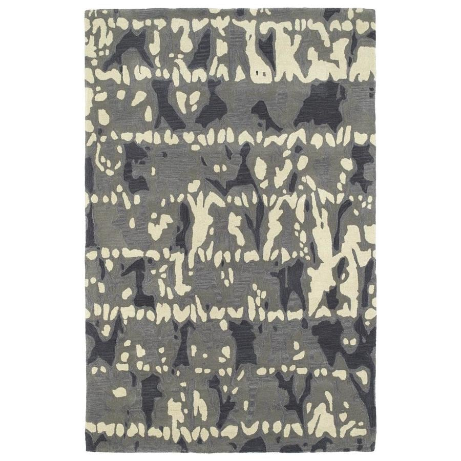 Kaleen Pastiche Grey Indoor Handcrafted Inspirational Area Rug (Common: 9 x 12; Actual: 9-ft W x 12-ft L)