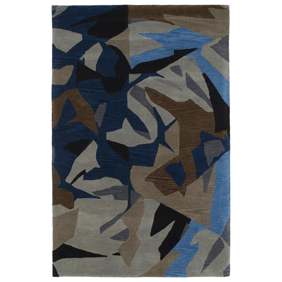 Kaleen Pastiche Multi Rectangular Indoor Handcrafted Inspirational Area Rug (Common: 8 x 10; Actual: 8-ft W x 10-ft L)