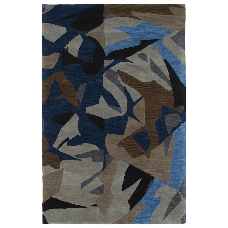 Kaleen Pastiche Multi Rectangular Indoor Handcrafted Inspirational Area Rug (Common: 9 x 12; Actual: 9-ft W x 12-ft L)