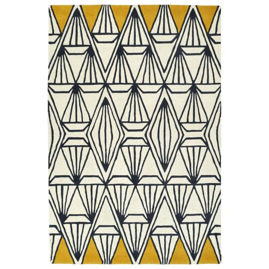 Kaleen Origami Ivory Indoor Handcrafted Inspirational Throw Rug (Common: 2 x 3; Actual: 2-ft W x 3-ft L)