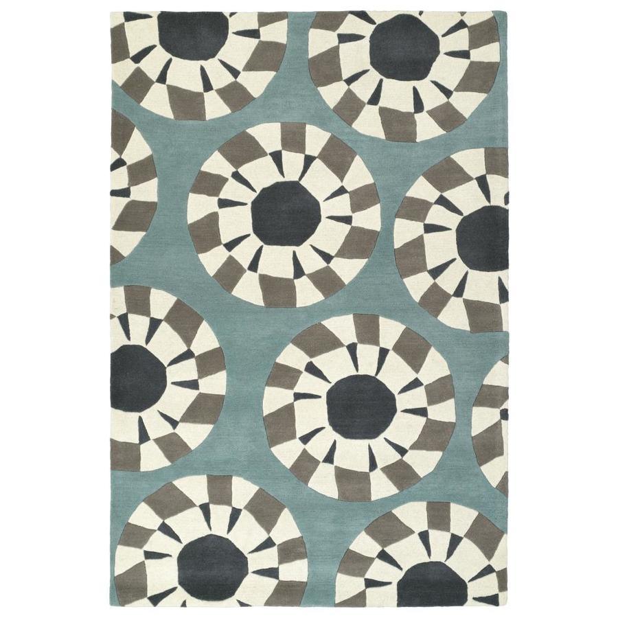 Kaleen Origami Grey Rectangular Indoor Handcrafted Inspirational Area Rug (Common: 5 x 8; Actual: 5-ft W x 7.5-ft L)