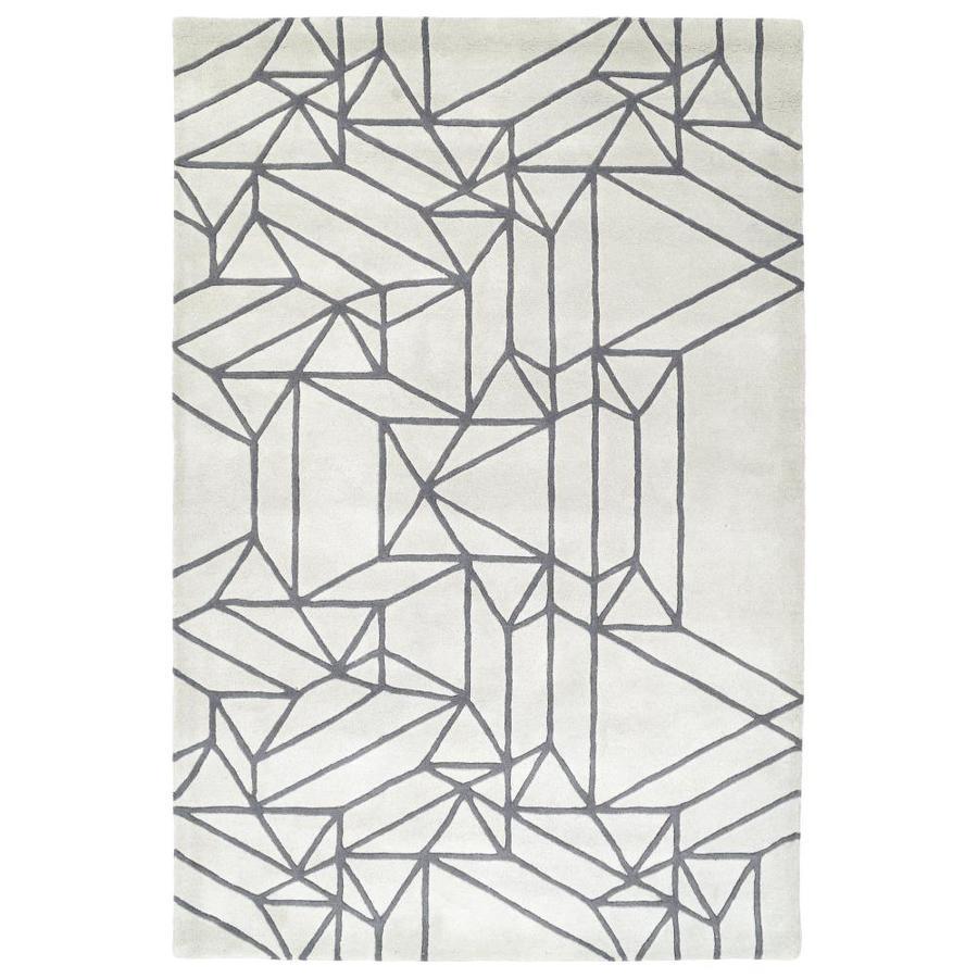 Kaleen Origami Mint Indoor Handcrafted Inspirational Throw Rug (Common: 2 x 3; Actual: 2-ft W x 3-ft L)