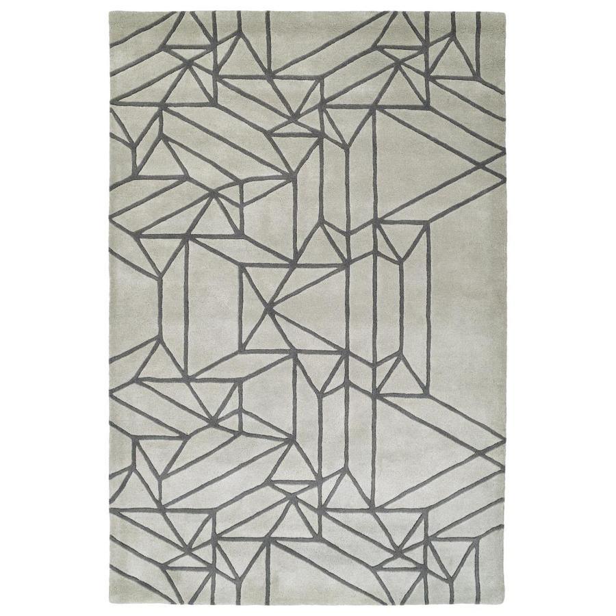 Kaleen Origami Mint Indoor Handcrafted Inspirational Runner (Common: 2 x 8; Actual: 2.5-ft W x 8-ft L)