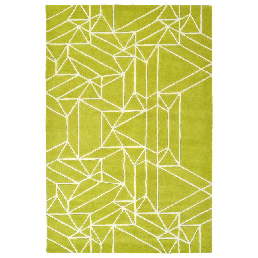 Kaleen Origami Lime Green Indoor Handcrafted Inspirational Runner (Common: 2 x 8; Actual: 2.5-ft W x 8-ft L)