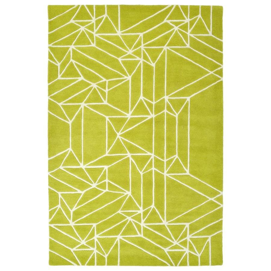 Kaleen Origami Lime Green Rectangular Indoor Handcrafted Inspirational Area Rug (Common: 4 x 6; Actual: 3.5-ft W x 5.25-ft L)
