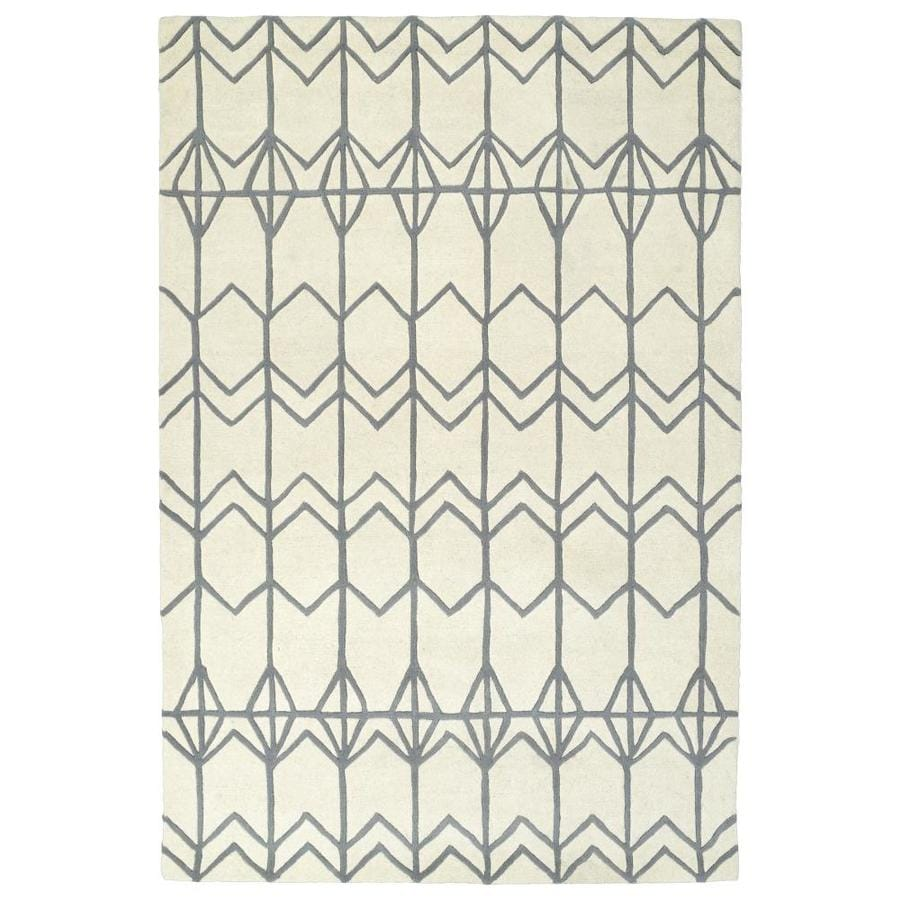 Kaleen Origami Ivory Indoor Handcrafted Inspirational Area Rug (Common: 5 x 8; Actual: 5-ft W x 7.5-ft L)