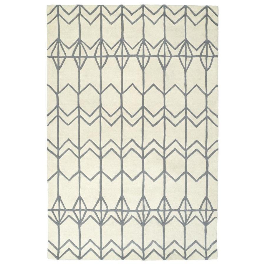 Kaleen Origami Ivory Rectangular Indoor Handcrafted Inspirational Area Rug (Common: 8 x 10; Actual: 8-ft W x 10-ft L)