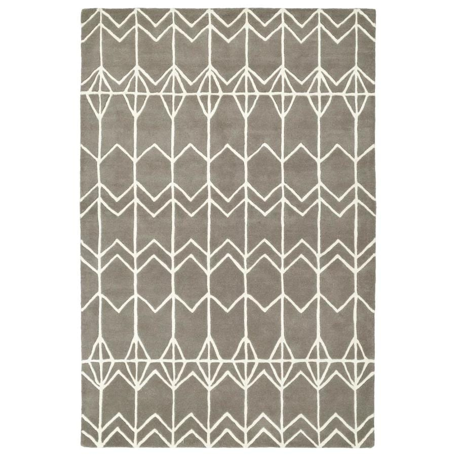 Kaleen Origami Grey Indoor Handcrafted Inspirational Area Rug (Common: 8 x 10; Actual: 8-ft W x 10-ft L)