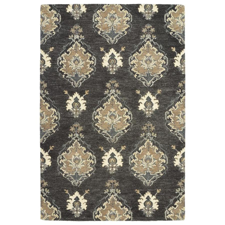 Kaleen Brooklyn Charcoal Indoor Handcrafted Oriental Area Rug (Common: 10 x 13; Actual: 9.5-ft W x 13-ft L)