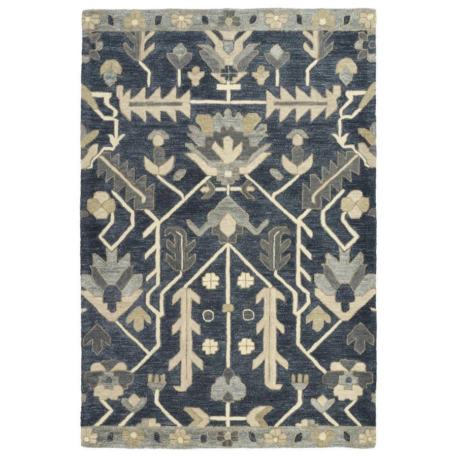 Kaleen Brooklyn Denim Indoor Handcrafted Oriental Area Rug (Common: 5 x 8; Actual: 5-ft W x 7.5-ft L)