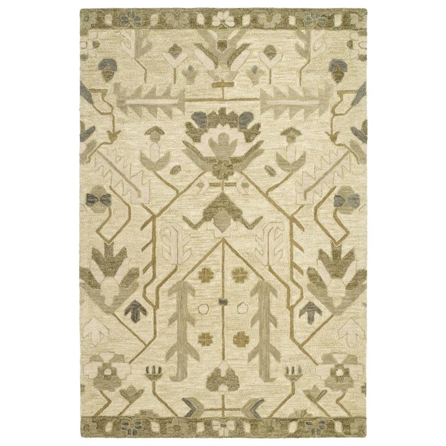 Kaleen Brooklyn Olive Indoor Handcrafted Oriental Area Rug (Common: 10 x 13; Actual: 9.5-ft W x 13-ft L)
