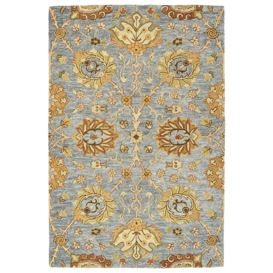 Kaleen Brooklyn Slate Indoor Handcrafted Oriental Area Rug (Common: 8 x 11; Actual: 8-ft W x 11-ft L)