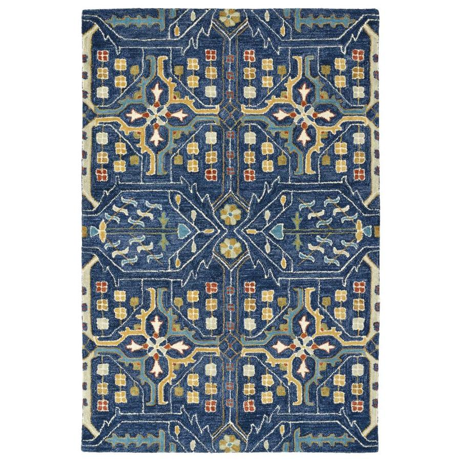 Kaleen Brooklyn Navy Indoor Handcrafted Oriental Area Rug (Common: 8 x 9; Actual: 7.5-ft W x 9-ft L)
