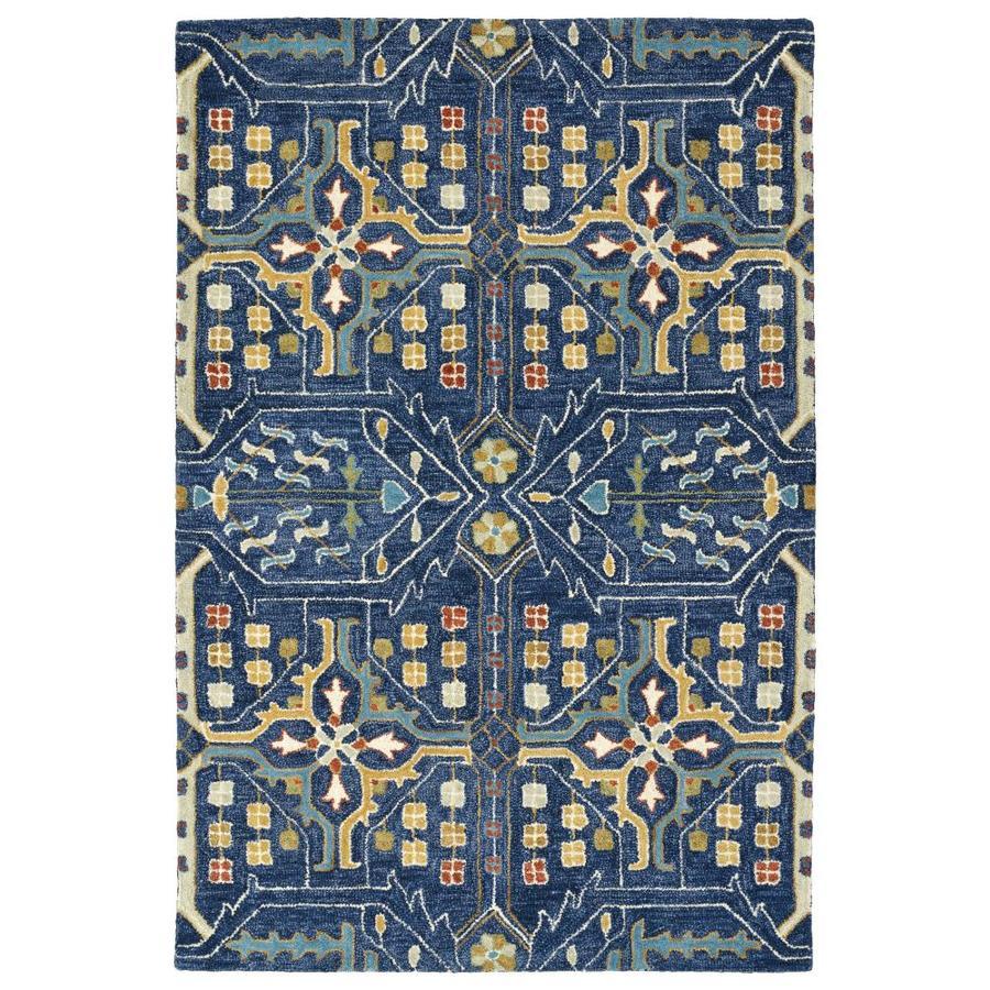 Kaleen Brooklyn Navy Indoor Handcrafted Oriental Area Rug (Common: 10 x 13; Actual: 9.5-ft W x 13-ft L)