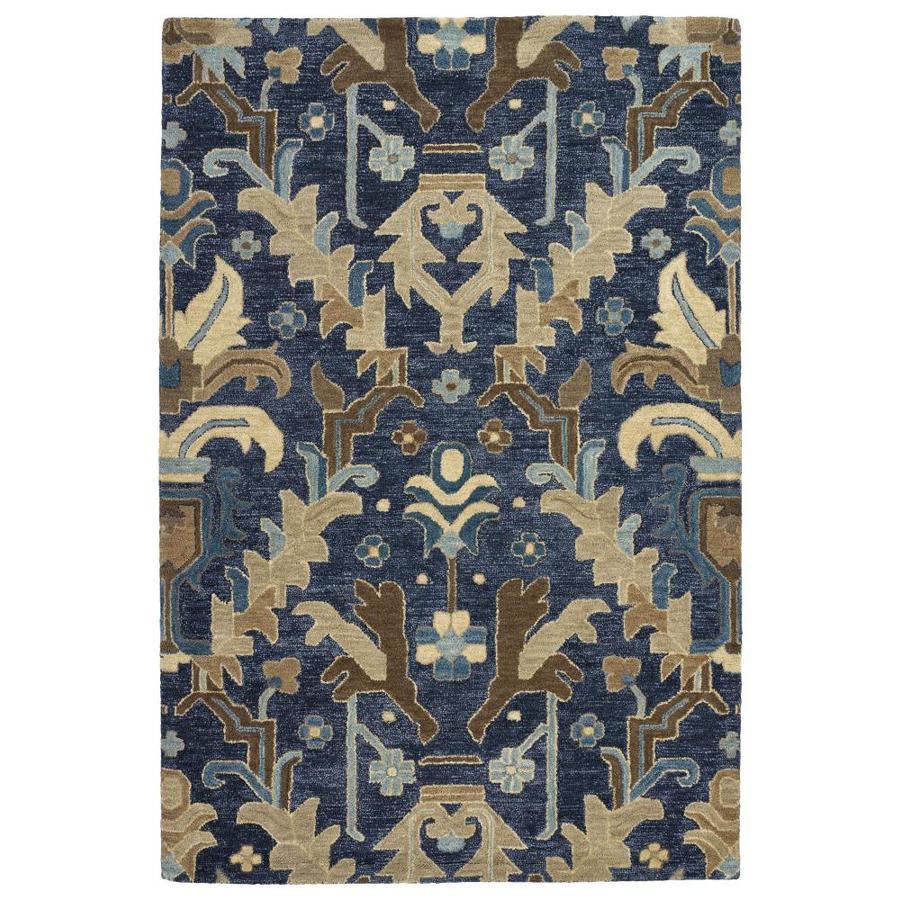 Kaleen Brooklyn Navy Indoor Handcrafted Oriental Area Rug (Common: 8 x 11; Actual: 8-ft W x 11-ft L)