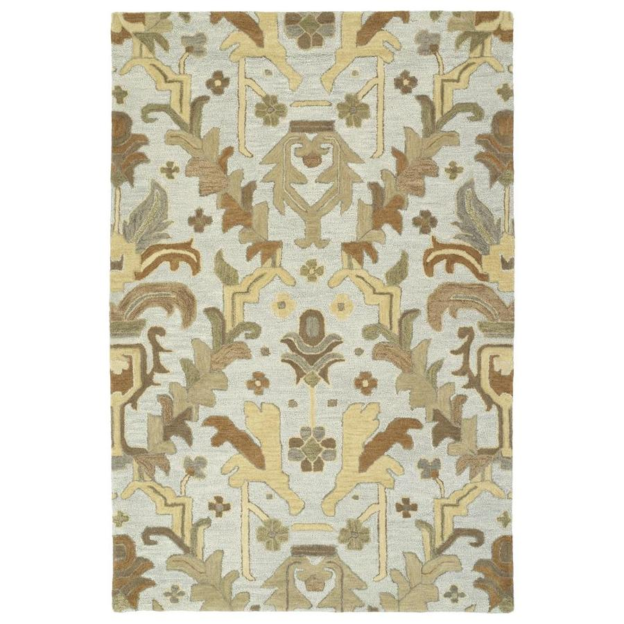 Kaleen Brooklyn Silver Indoor Handcrafted Oriental Throw Rug (Common: 2 x 3; Actual: 2-ft W x 3-ft L)