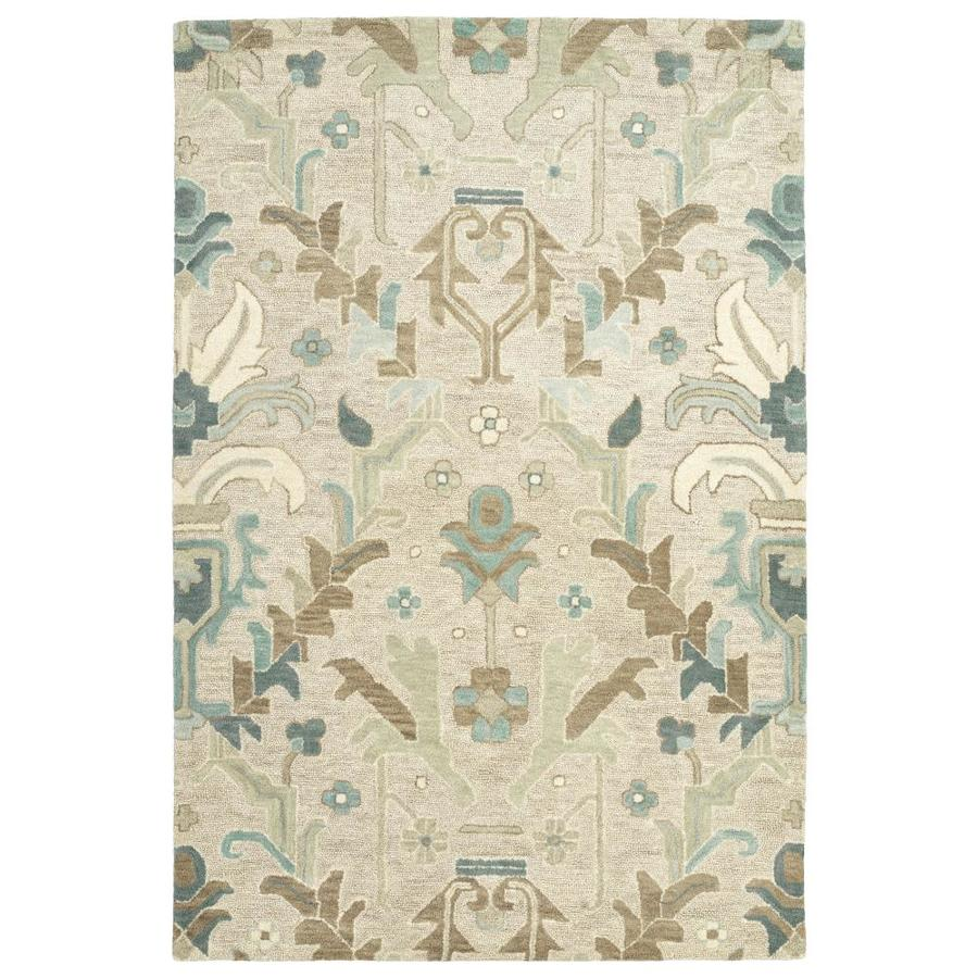 Kaleen Brooklyn Oatmeal Indoor Handcrafted Oriental Area Rug (Common: 10 x 13; Actual: 9.5-ft W x 13-ft L)