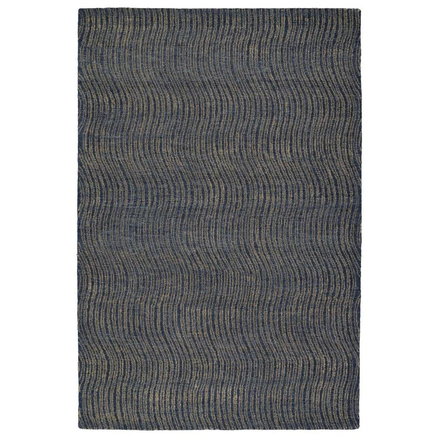 Kaleen Textura Blue Rectangular Indoor Handcrafted Distressed Throw Rug (Common: 2 x 3; Actual: 2-ft W x 3-ft L)