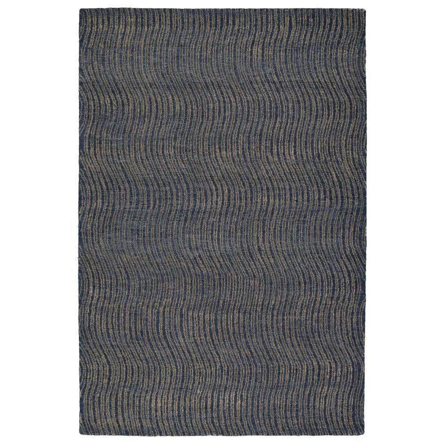Kaleen Textura Blue Rectangular Indoor Handcrafted Distressed Area Rug (Common: 5 x 8; Actual: 5-ft W x 7.75-ft L)