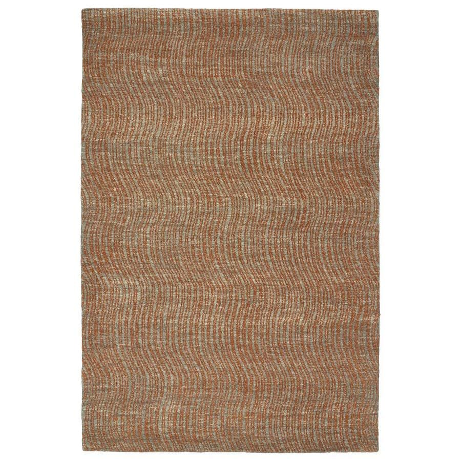 Kaleen Textura Paprika Rectangular Indoor Handcrafted Distressed Area Rug (Common: 4 x 6; Actual: 3.5-ft W x 5.5-ft L)