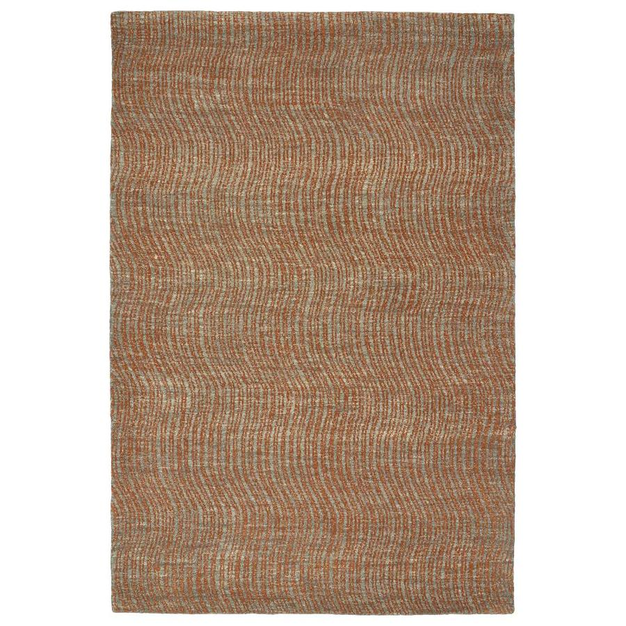 Kaleen Textura Paprika Indoor Handcrafted Distressed Area Rug (Common: 8 x 10; Actual: 8-ft W x 10-ft L)