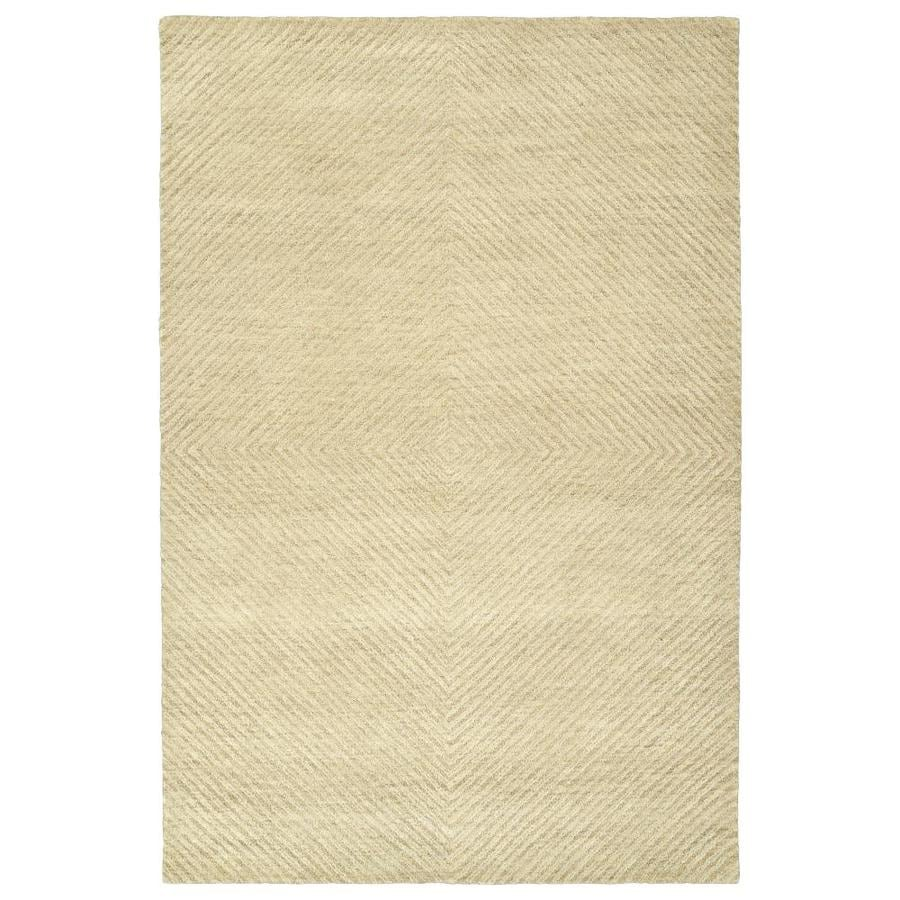 Kaleen Textura Sand Indoor Handcrafted Distressed Area Rug (Common: 4 x 6; Actual: 3.5-ft W x 5.5-ft L)