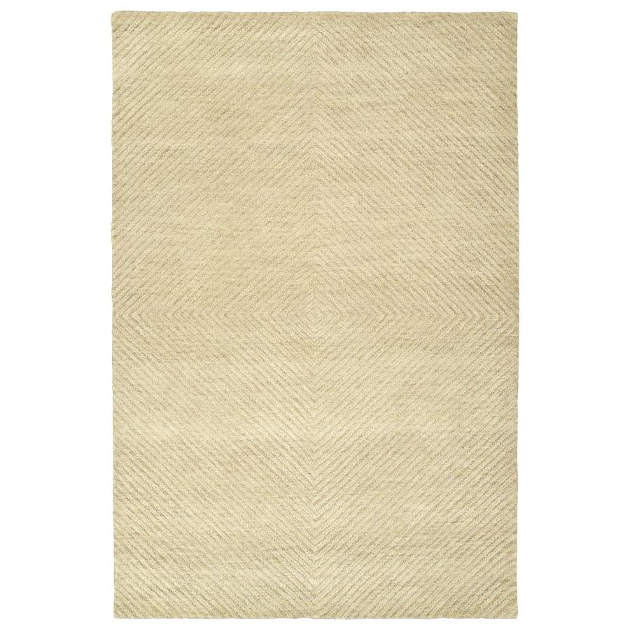 Kaleen Textura Sand Indoor Handcrafted Distressed Area Rug (Common: 9 x 12; Actual: 9-ft W x 12-ft L)