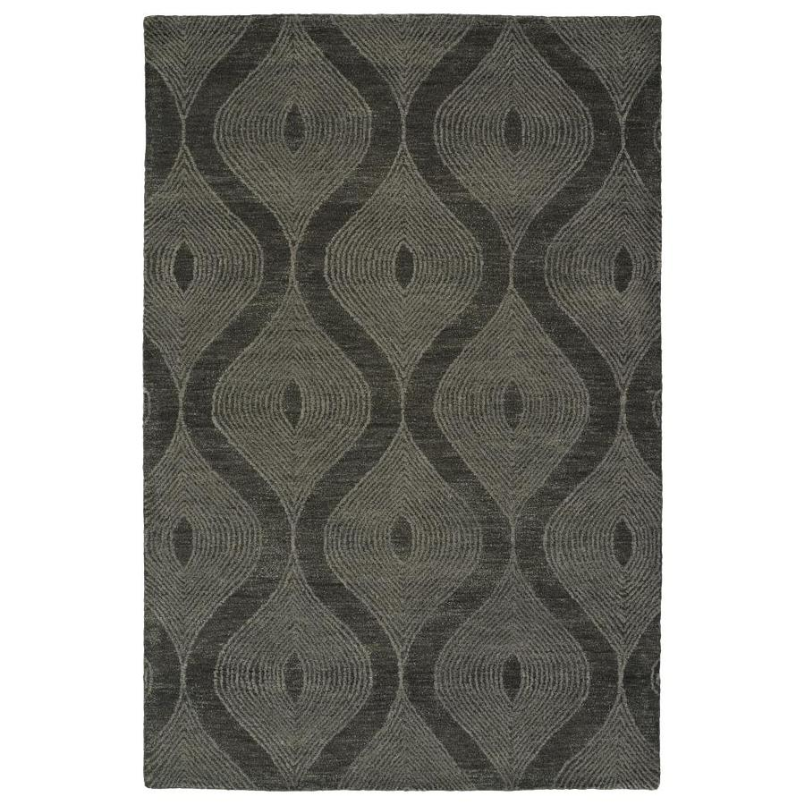Kaleen Textura Charcoal Indoor Handcrafted Distressed Throw Rug (Common: 2 x 3; Actual: 2-ft W x 3-ft L)