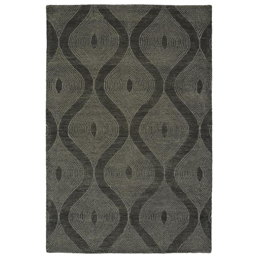 Kaleen Textura Charcoal Rectangular Indoor Handcrafted Distressed Area Rug (Common: 9 x 12; Actual: 9-ft W x 12-ft L)