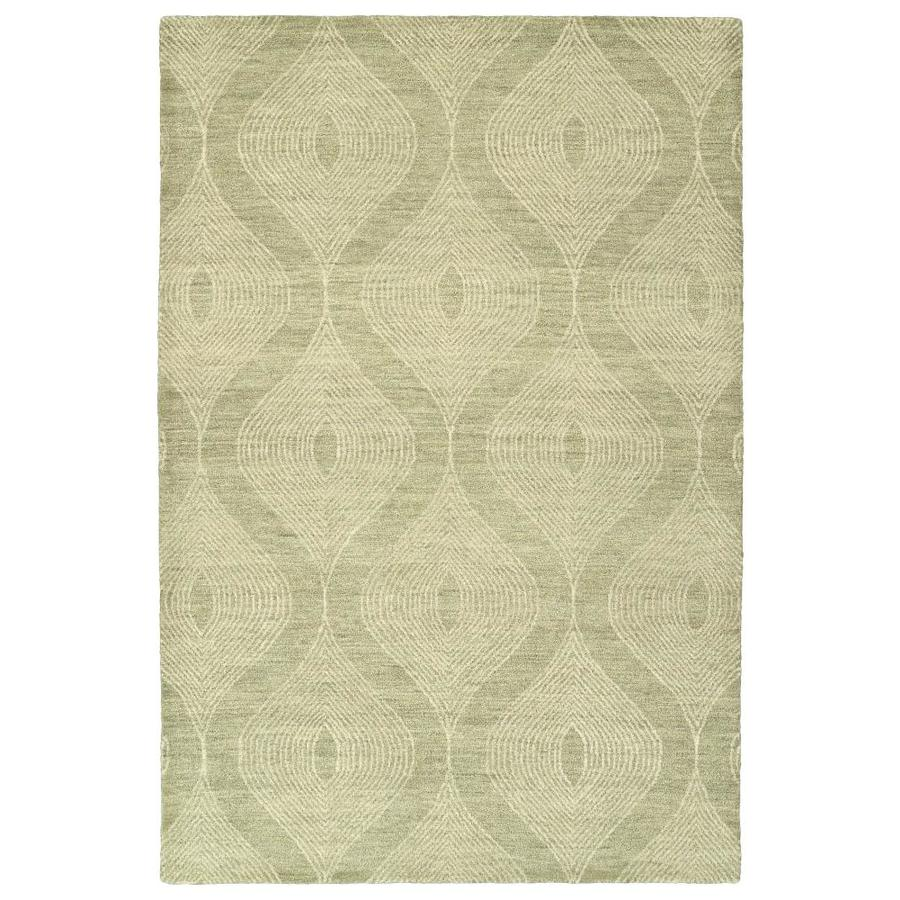 Kaleen Textura Sage Rectangular Indoor Handcrafted Distressed Area Rug (Common: 4 x 6; Actual: 3.5-ft W x 5.5-ft L)