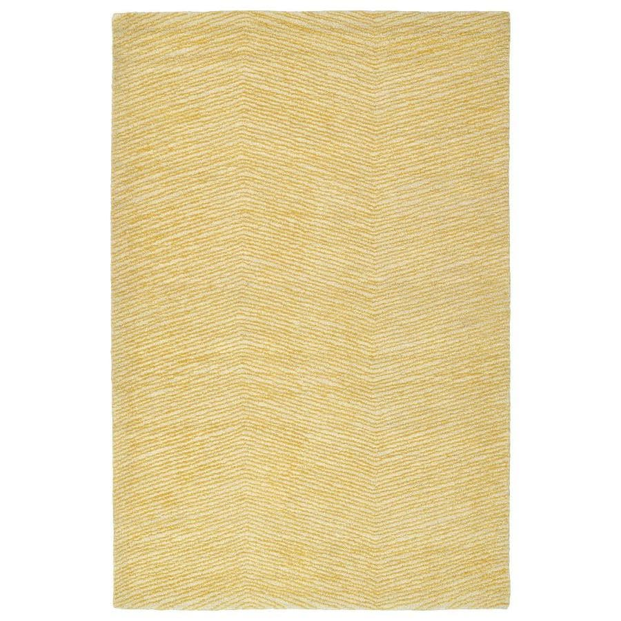 Kaleen Textura Gold Indoor Handcrafted Distressed Area Rug (Common: 4 x 6; Actual: 3.5-ft W x 5.5-ft L)