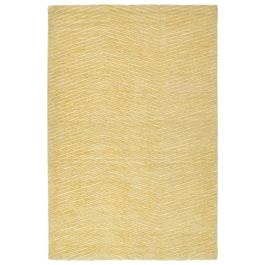 Kaleen Textura Gold Rectangular Indoor Handcrafted Distressed Area Rug (Common: 5 x 8; Actual: 5-ft W x 7.75-ft L)