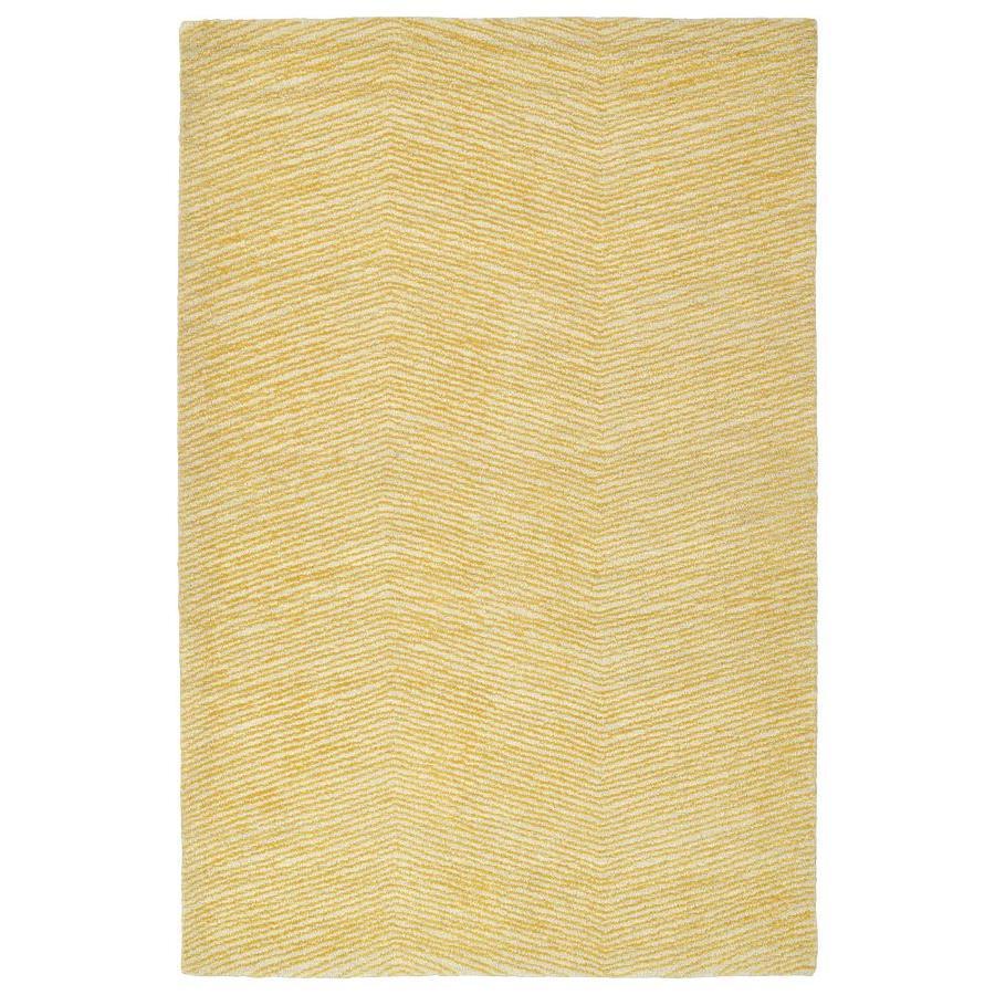 Kaleen Textura Gold Rectangular Indoor Handcrafted Distressed Area Rug (Common: 9 x 12; Actual: 9-ft W x 12-ft L)