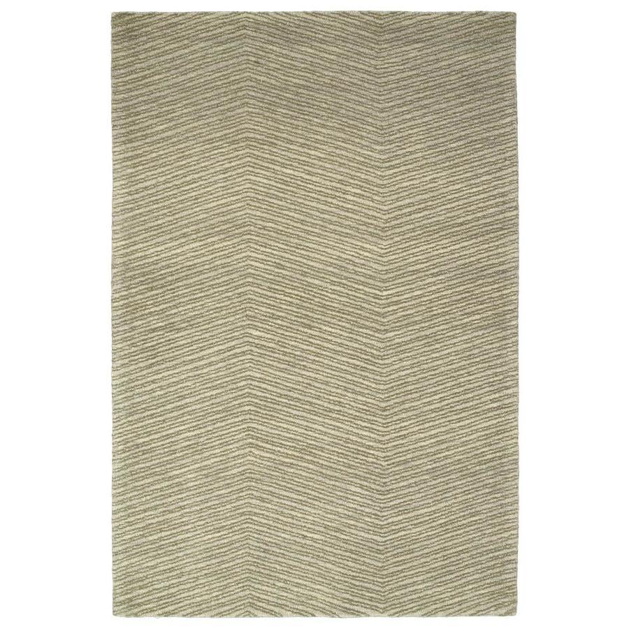 Kaleen Textura Green Indoor Handcrafted Distressed Area Rug (Common: 8 x 10; Actual: 8-ft W x 10-ft L)