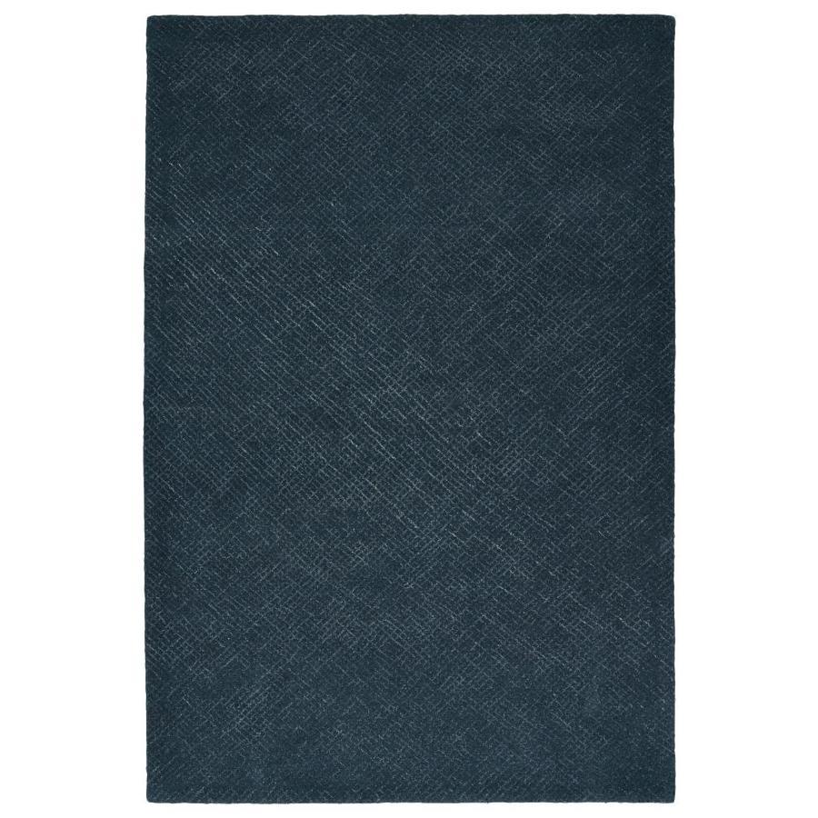 Kaleen Textura Denim Indoor Handcrafted Distressed Throw Rug (Common: 2 x 3; Actual: 2-ft W x 3-ft L)