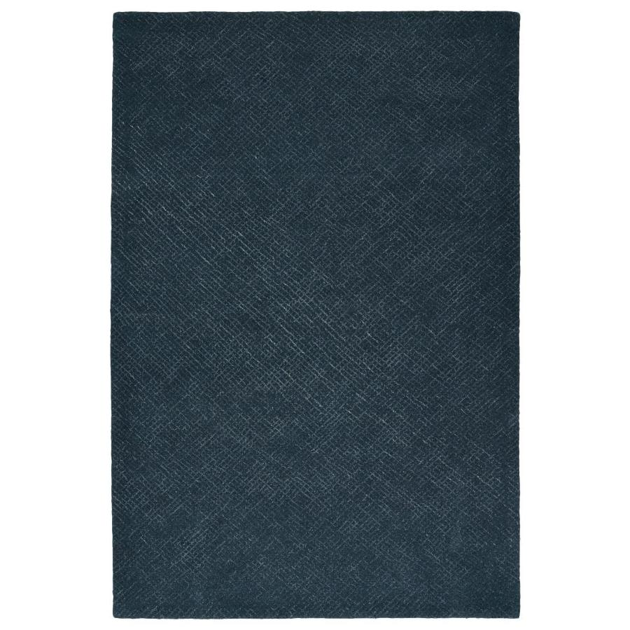 Kaleen Textura Denim Indoor Handcrafted Distressed Area Rug (Common: 4 x 6; Actual: 3.5-ft W x 5.5-ft L)