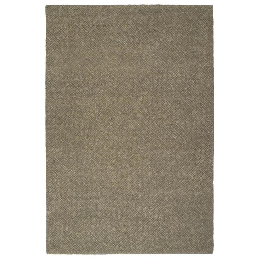 Kaleen Textura Grey Indoor Handcrafted Distressed Area Rug (Common: 4 x 6; Actual: 3.5-ft W x 5.5-ft L)