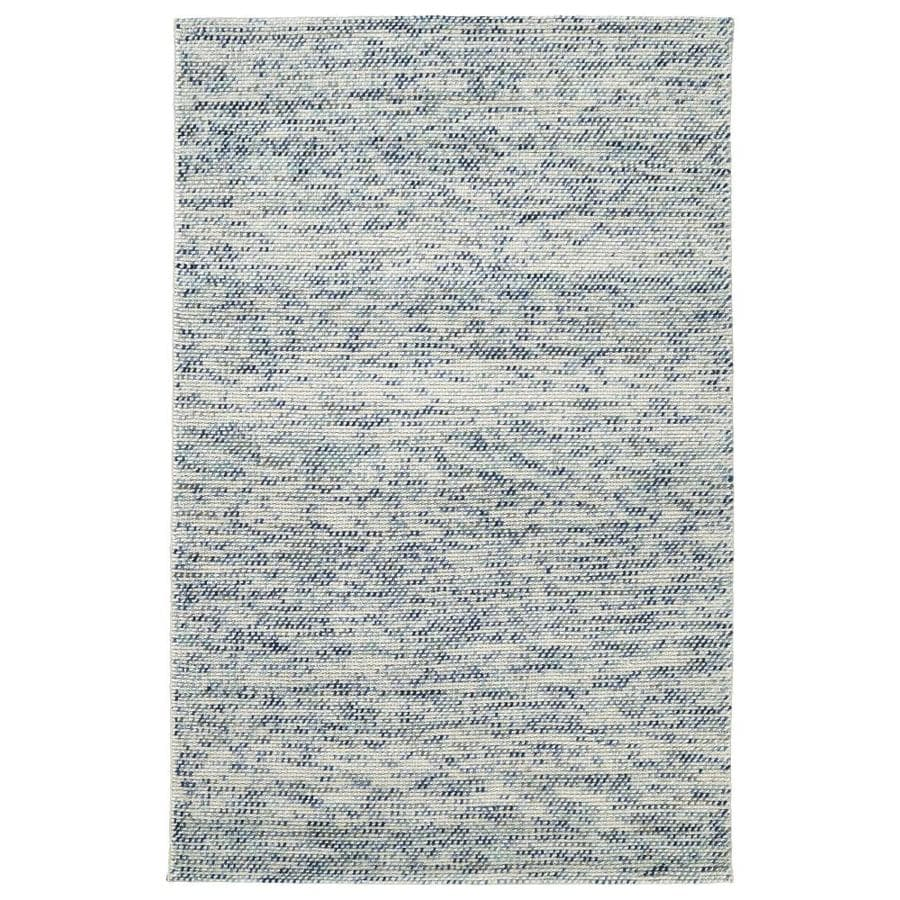 Kaleen Cord Blue Indoor Handcrafted Area Rug (Common: 4 x 6; Actual: 3.5-ft W x 5.5-ft L)