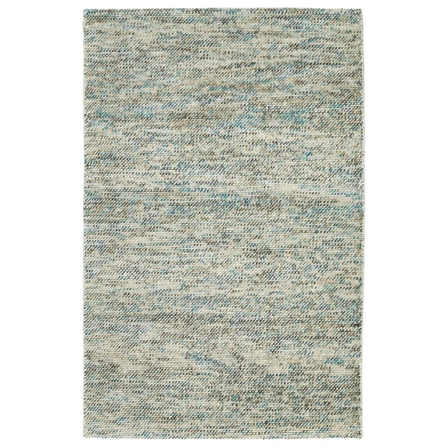 Kaleen Cord Turquoise Indoor Handcrafted Throw Rug (Common: 2 x 3; Actual: 2-ft W x 3-ft L)