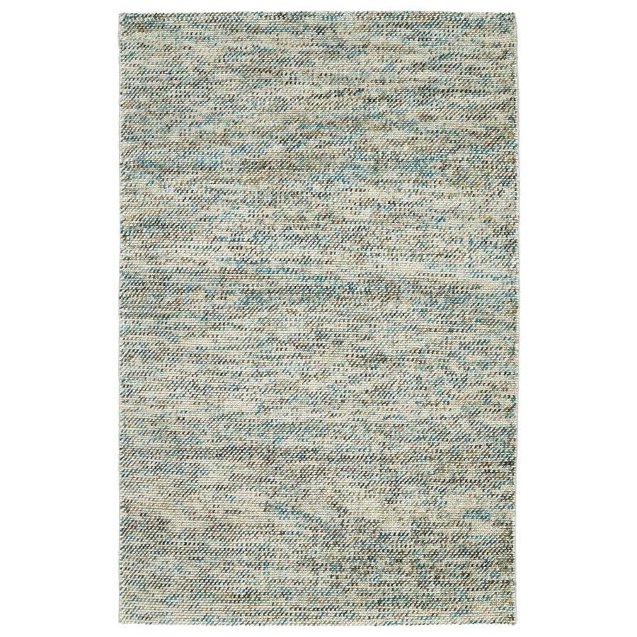 Kaleen Cord Turquoise Rectangular Indoor Handcrafted Area Rug (Common: 4 x 6; Actual: 3.5-ft W x 5.5-ft L)
