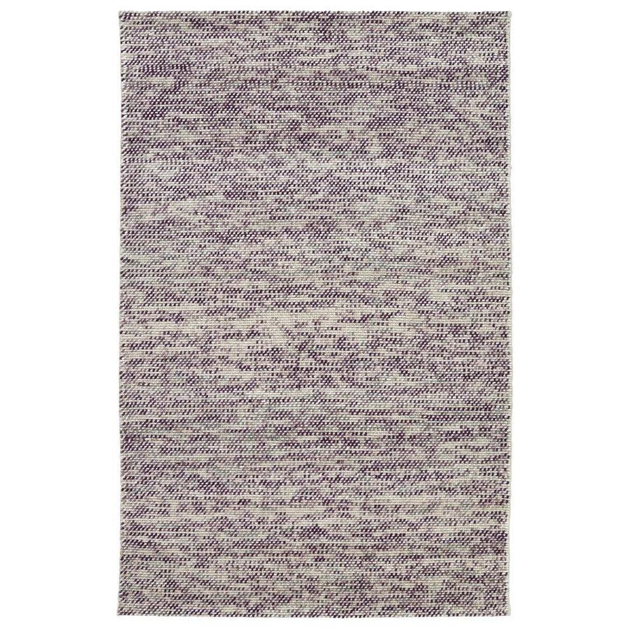 Kaleen Cord Purple Indoor Handcrafted Area Rug (Common: 4 x 6; Actual: 3.5-ft W x 5.5-ft L)